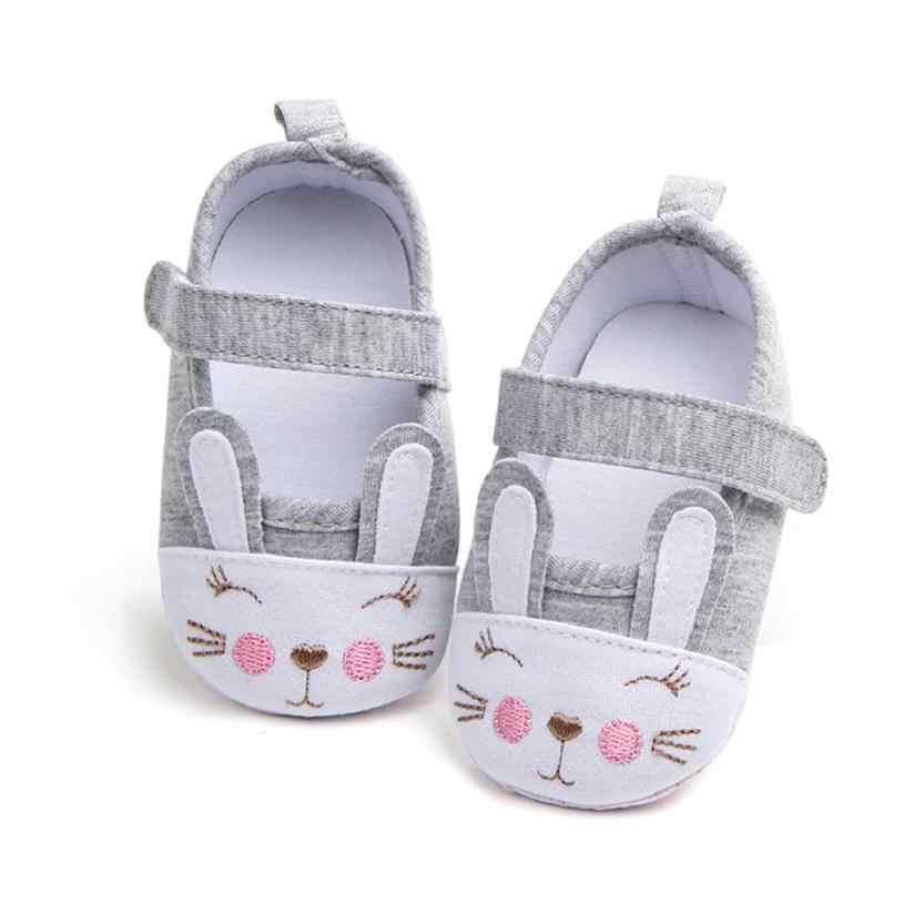 รองเท้าเด็กผู้หญิงแฟชั่นทารกแรกเกิดการ์ตูนรองเท้าผ้าใบกระต่าย Stitchwork Anti - slip รองเท้ารองเท้าผ้าใบ uk M12