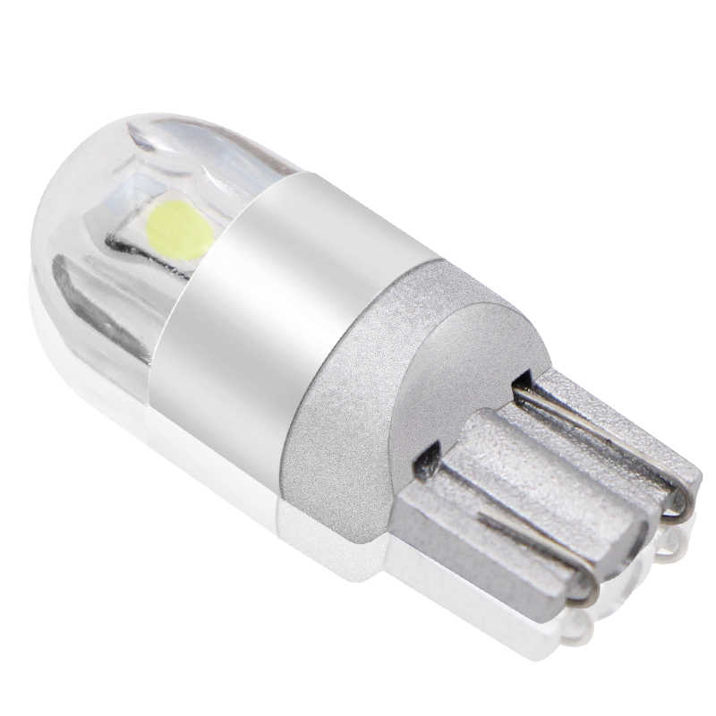 2pcs T10 LED Bulbs White 168 501 W5W LED Lamp T10 Wedge 3030 2SMD Interior Lights 12V - 24V 6000K Red Amber yellow Ice Blue