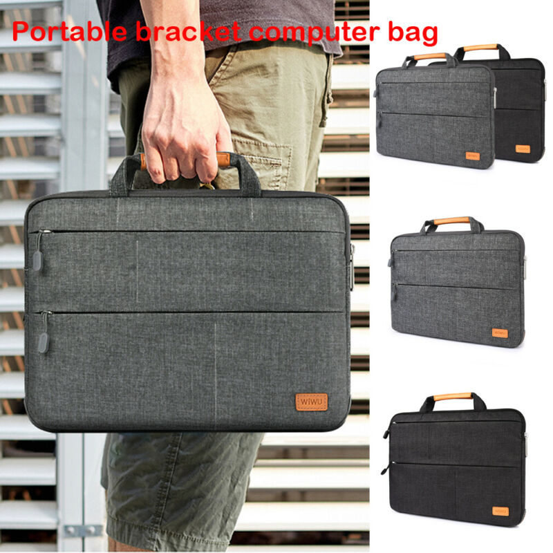 NoEnName Waterproof Briefcases Laptop Sleeve Case Bag For Macbook Lenovo Dell HP Computer Notebook PC 11/13/15/In