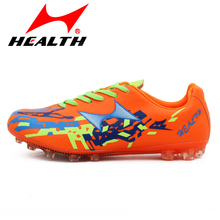 Health Mens Soccer Boots Cleats Long Spikes FG font b kids b font Outdoor Football Boots