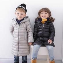 New fashion kids clothing boys girls clothes winter children down jacket Thickening of children's coat keep warm coats Add long недорого