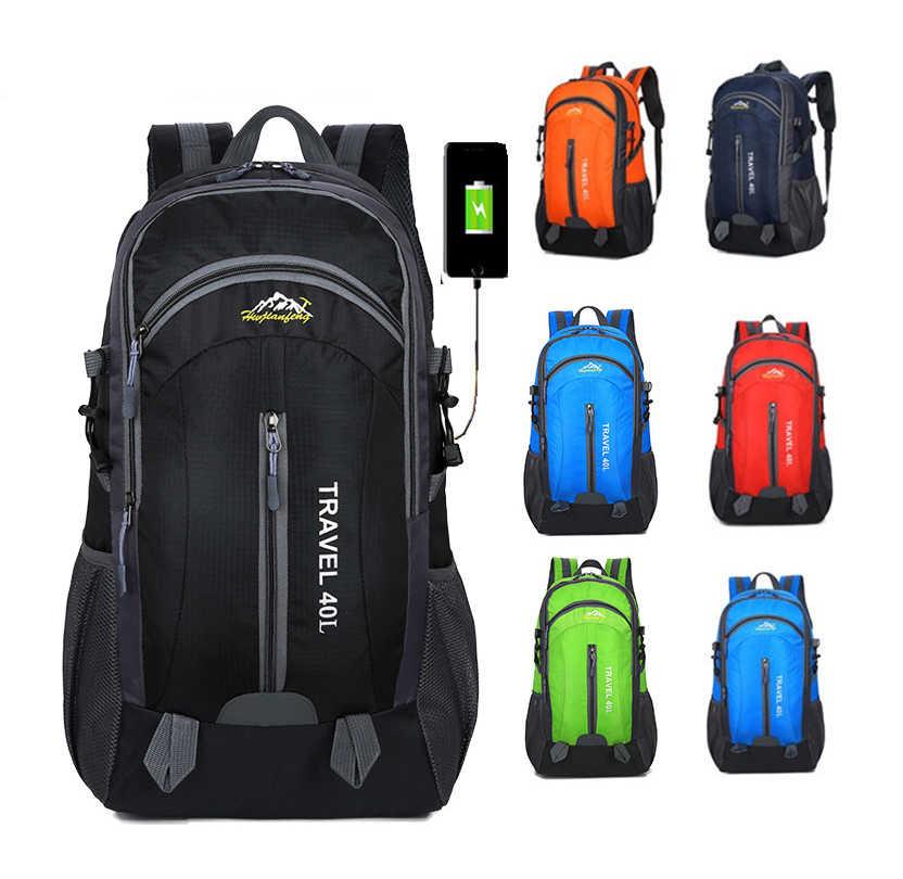 Дорожные сумки, походный рюкзак кемпинговая сумка, спортивная альпинистская горная Экипировка, 40л мужской женский рюкзак, походный рюкзак