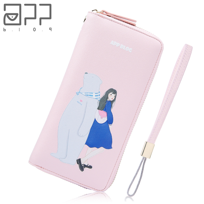 APP BLOG Unique Original Design Swan Lady Women's Purse 2017 Newest Fashion Clutch Wallet Phone Bag Girl Carteira Feminina Mujer