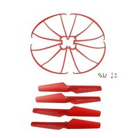 For Syma Spare Parts 4pcs Propellers & 4pcs Protector Guards Included 8pcs Mounting Screws for RC Mini Quadcopter Toy