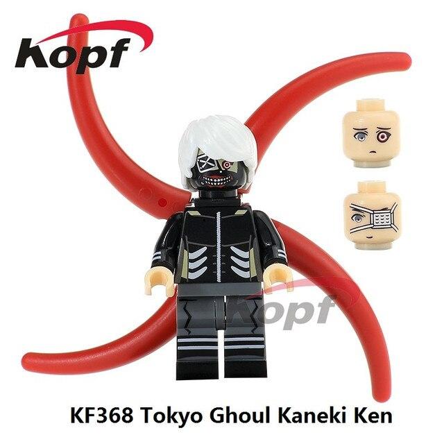 singe sale super heroes tokyo ghoul kaneki ken kaneki with mask three head bricks building blocks