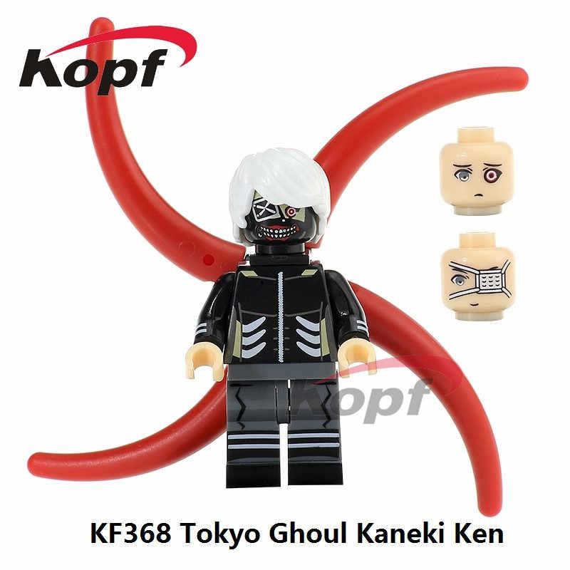 Singe Vendita Super Heroes Tokyo Ghoul Kaneki Ken Kaneki con Maschera a Tre Testa Mattoni Blocchi di Costruzione per Bambini Giocattoli Del Regalo KF368