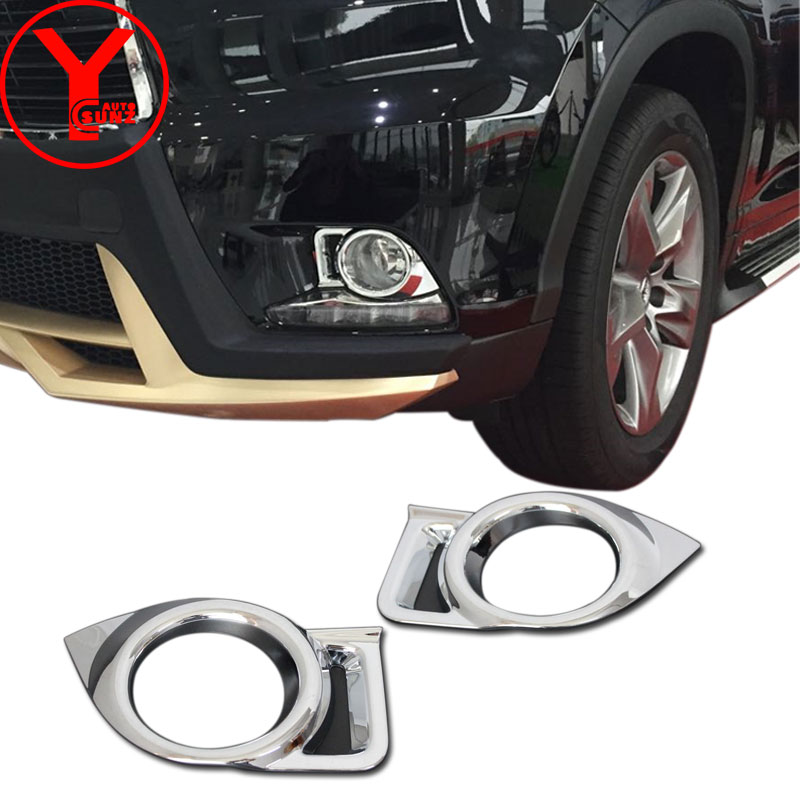 chrome front fog light cover For Toyota Highlander Kluger xu50 2014 2015 2016 2017 ABS fog light cover parts accessories YCSUNZ