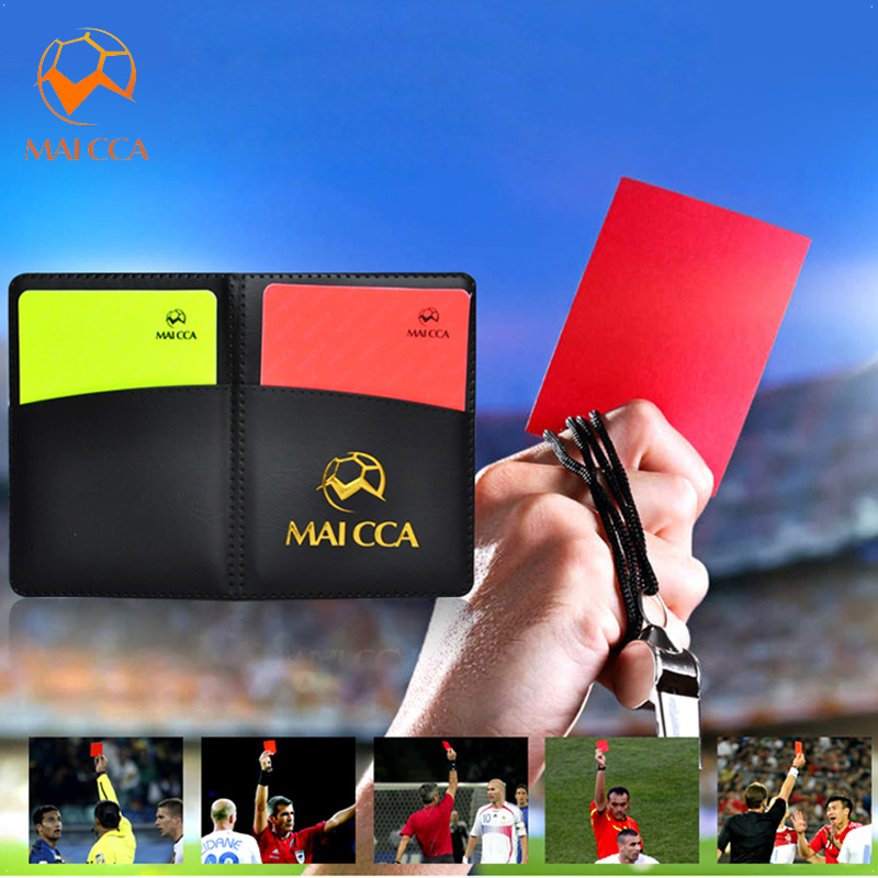 Soccer Referee Red Yellow Card Pencil Sports Notebook Personalized Sport Match Soccer Sheet Set Note Notebook