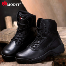 Modyf Men Winter Fashion Martin snow boots Esdy Desert Tactical Military Boots SWAT outdoor hiking leather Combat Shoes