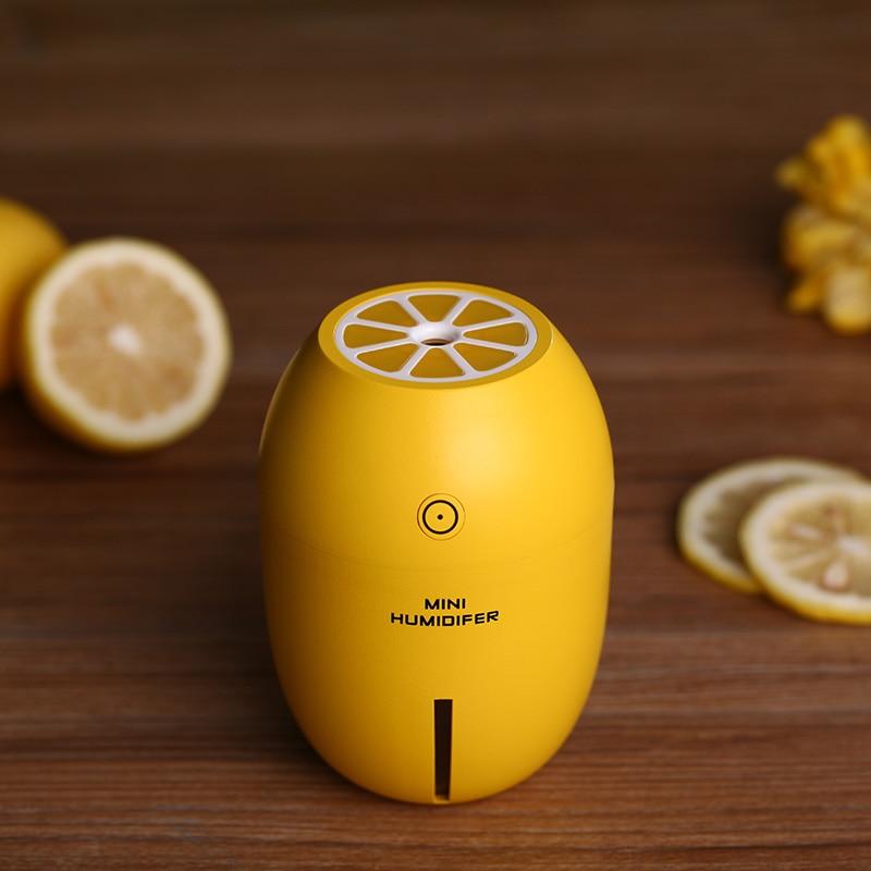 Creative Lemon Humidifier Mini USB Desktop Diffuser Air Humidifier Led Light Mist Maker For Home Office Car Gifts 4 Colors