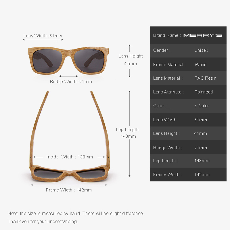 MERRYS di DISEGNO Uomini Donne Occhiali Da Sole In Legno Retro occhiali Da  Sole Polarizzati Occhiali FATTI A MANO 100% Protezione UV S5140 in MERRYS di  ... c4764c4cb6