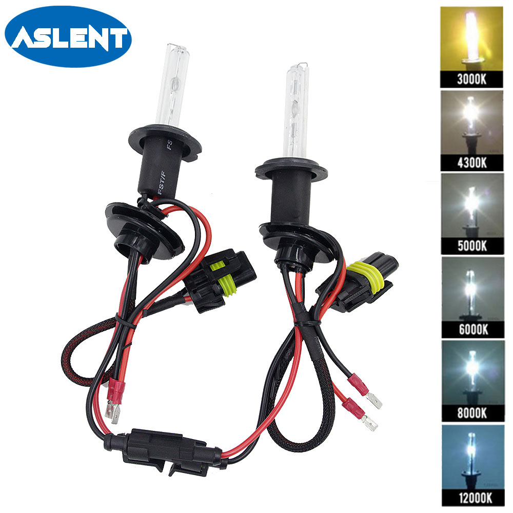 Aslent 2pcs 12V 55W HID Xenon Bulb H1 H3 H7 H11 9005 9006 Auto Car Headlight Lamp 3000K 4300K 5000K 6000K 8000K 10000K
