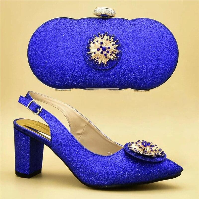 rosado púrpura A Decorado Llegada oro Zapatos Azul peach rojo Apliques Nueva Bolsos Diseñador Y Juego Boda Con Italiano ZYdfaw8