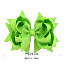 10 pcs Grosgrain Ribbon Bows Accessories With Clip Boutique Bow Hairpins Hair Ornaments 4.7 Inch цена 2017
