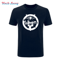 New Summer Fashion Vespa Vintage Motorcycle Logo Printing Men Hip Hop T Shirt Tees 7 Colors