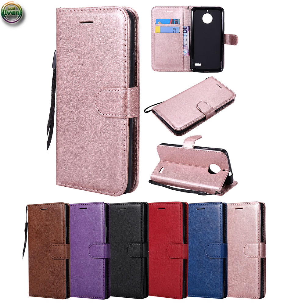 Wallet <font><b>Case</b></font> For Motorola <font><b>Moto</b></font> <font><b>E4</b></font> E 4 4th Gen XT176 <font><b>XT1761</b></font> Soft TPU Leather <font><b>Case</b></font> Phone Cover For <font><b>Moto</b></font> 4E XT 1761 1767 Classic Bag image