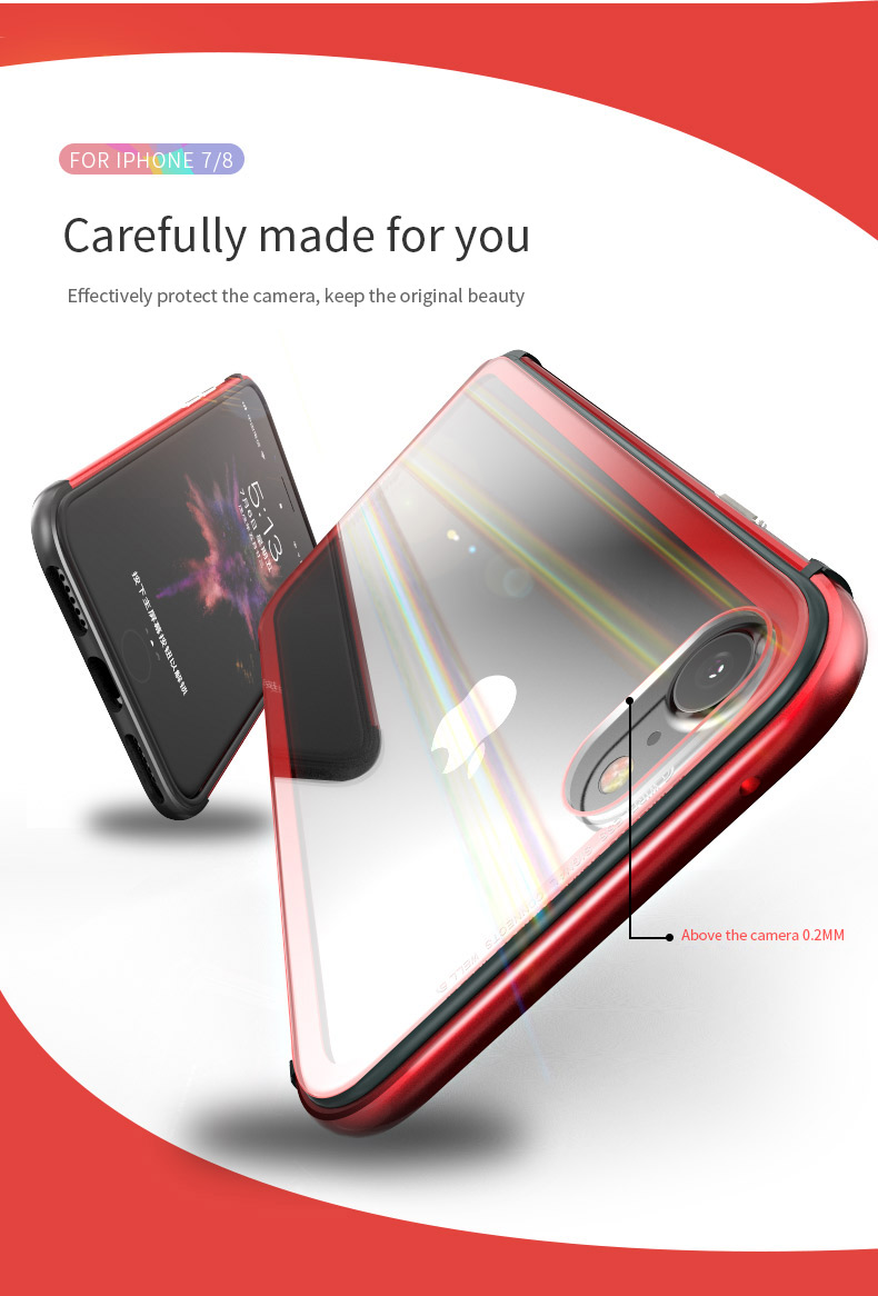 LUPHIE Aurora Laser Case For iPhone X 7 8 Plus clear glass Case (5)