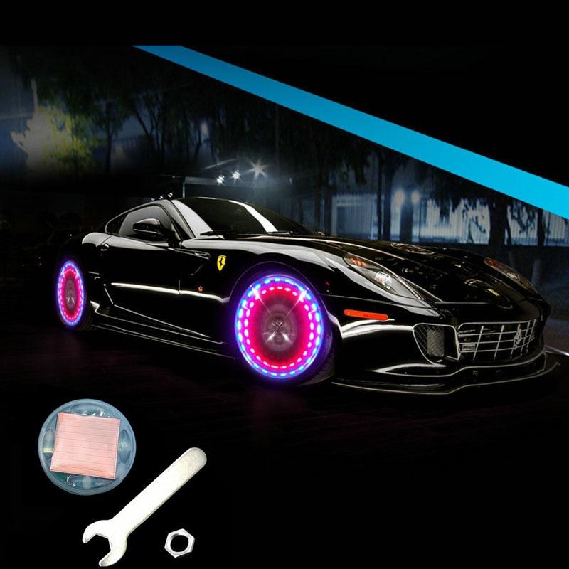 15 Modus Solar Energie Led Auto Auto-flash-rad Ventil Dekorative Licht Motorrad Roller Reifen Lampe Auto Zubehör Räder Lampe