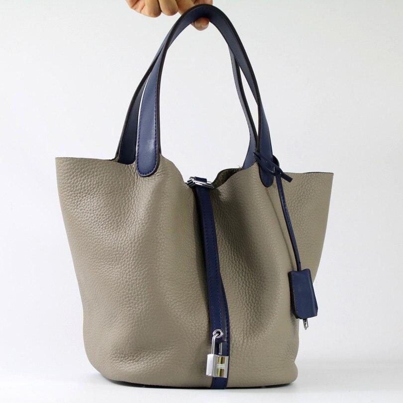 Original Lock Bag Platinum Bucket Bag 2017 Simple Fashion Women Genuine Leather Handbag\Bag Cowhide Hand Bag~Hit colors~17B2 eset nod32 антивирус platinum edition 3пк 2года