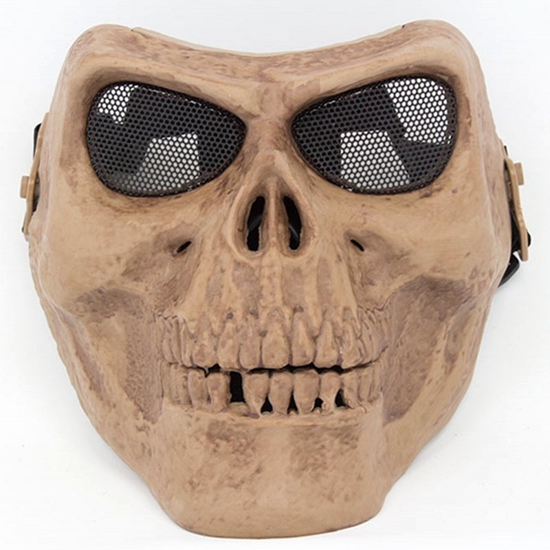 CQC Military Tactical Paintball Airsoft Cool Skull Full Face Mask Skeleton Ghost Protective Mask Wargame Hunting Halloween Party