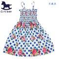Vestidos das meninas Da Praia vestido crianças vestidos para meninas Fresco Roupas para crianças 7-8-9-10yrs roupas Das Meninas para o verão do bebê da menina