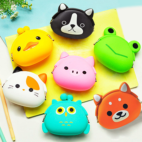 Cute Silicone Jelly Cartoon Animal Coin Purse Mini Wallet Pouch Girls Kids GiftMujer portafoglio billetera bourse bolso homme