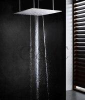 20 дюймов на потолке Нержавеющаясталь верхний душ Ванная комната Swash и дождя Насадки для душа