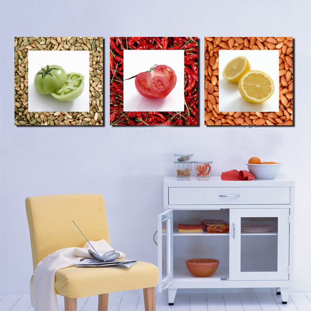 Cucina decor pittura quadri moderni verdura frutta stampa for Quadri per cucina