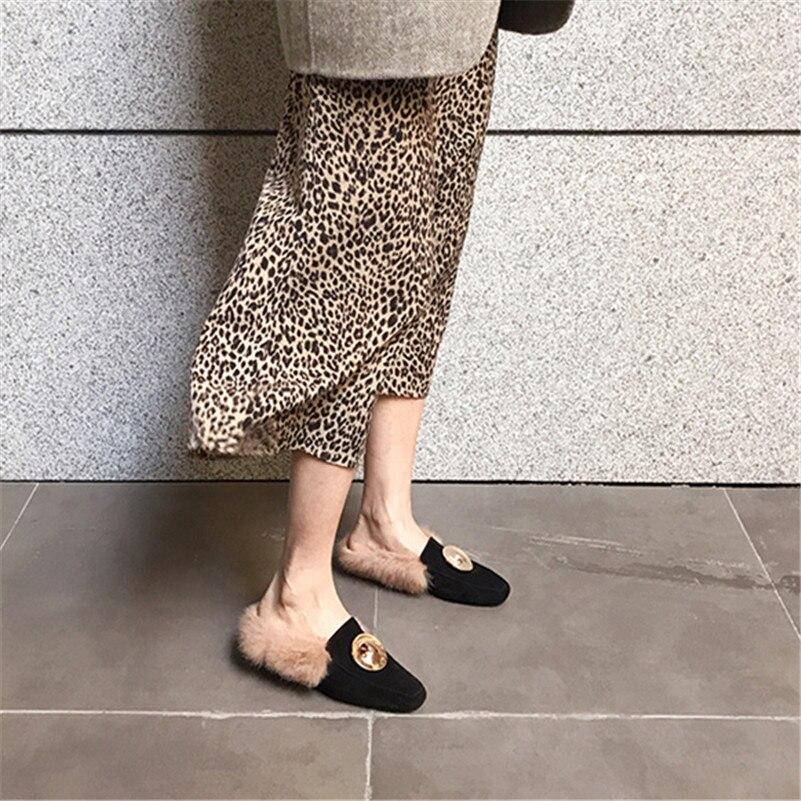 Decoración Fiesta Negro Casuales Vaca Zapatos Las Boda Mujeres Oro Ante Conasco Comodidad Moda Bombas Mujer De 1 Resbalón En x8w4OT6