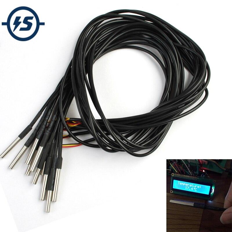 cavo di 1 metro Arduino Sonda di temperatura con sensore DS18B20 waterproof