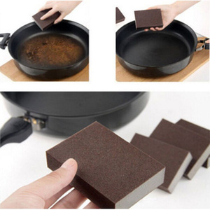 100*70*25MM 2pcs Brown Carborundum Melamine Eraser Magic Sponge Diy Cleaning Sponge Dishwashing Kitchen Bathroom Accessory Items
