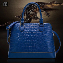 The spring of 2016 new handbag crocodile grain shells aslant female bag women handbags