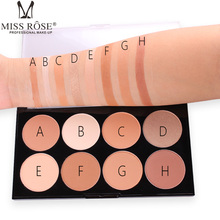 Miss Rose Brand 8 color Powdery cake 3D fix concealer powder South American Beauty makeup