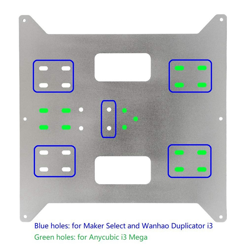 Y Axis Carriage Replacement Upgrade Aluminum Plate for Maker Select, Wanhao Duplicatior I3 and Anycubic I3 Mega 3D Printers