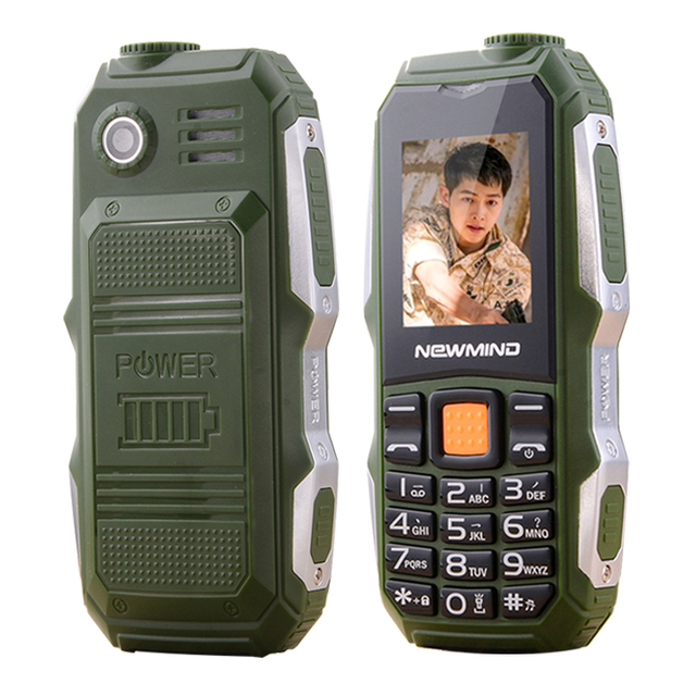newmind F6000 Russian Turkish,Arabic,long standby Dual Card Big Voice Flashlight FM 3.5 earphone jack Rugged mobile Phone P176