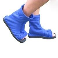 Shoes Man Sports Falt COS Naruto Props Boots Shoes Man Naruto Konoha Shoes Black Blue COS