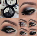 Makeup 3 Colors Eye Shadow Palette Smoky Eyeshadow Metallic Naked Nude Shimmer Eyeshadow