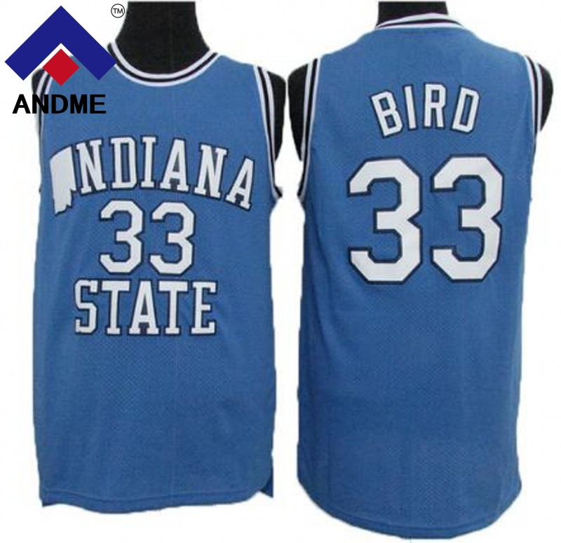 33 larry Bird Indiana State Jersey Sycamores College Basketball Jersey All Stitched Men Basketball Shirt S-3XL larry bird julius erving