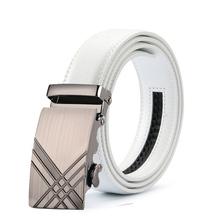 Fashion Mens Luxury Brand white Belts Male Genuine Leather Belt Men Cummerbands Cinto Casual Waist Strap