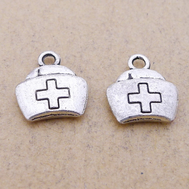 Charm Pendants Jewelry Silver-Plated Medical-Nurse Diy-Making Antique for 20pieces/Lot