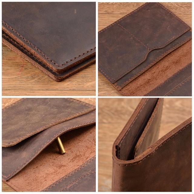 100% Genuine Crazy Horse Leather Passport Cover