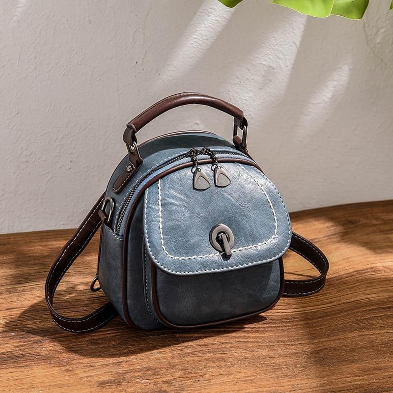 Backpack Vintage Teenage Girl Herald Fashion Shoulder Bag Ladies Women for Cow Split in Backpacks from Luggage Bags