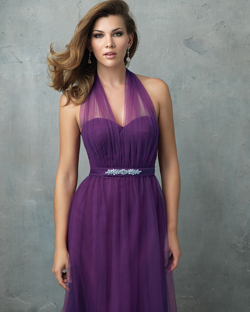 Compare prices on bridesmaid dress convertible online shopping 2016 convertible bridesmaid dress halter neckline purple tulle long party gown backless plus size bride dress ombrellifo Images