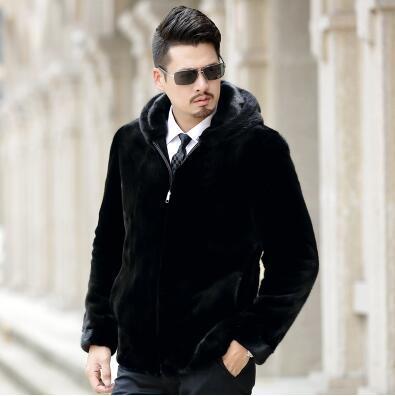 European Brand Design Business Style black manly Real Mink fur jackets smart ambitious men genuine mink fur coats