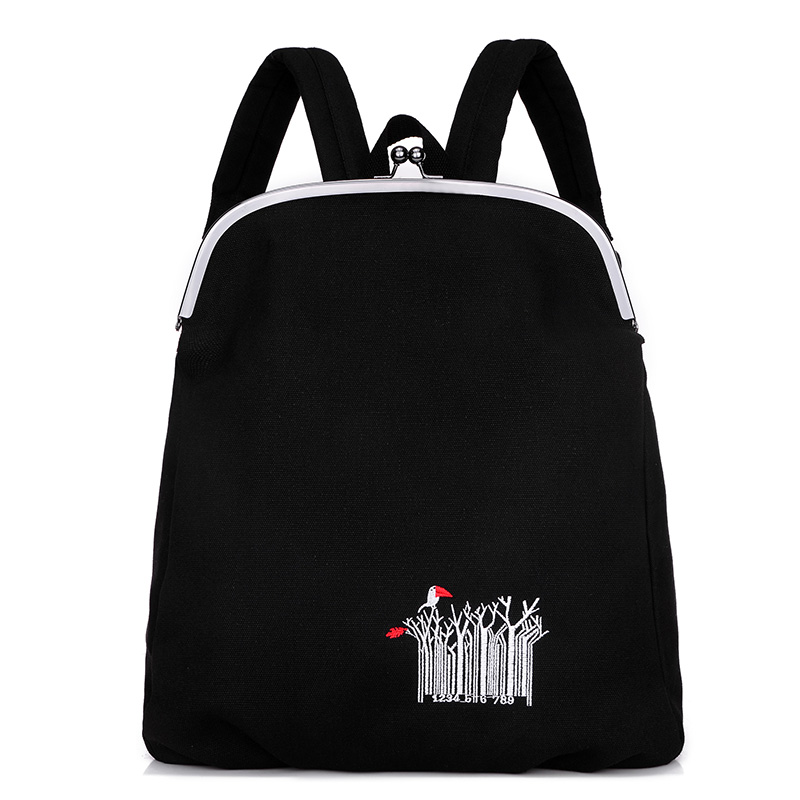 New Fashion Shoulder Strap Solid Casual Women Backpack School Book Bag Big Canvas Bag Designer Korean Style Backpacks Clip Open 2016 spring new school bags for girls designer brand women backpack korean style bookbag shoulder bag wholesale kids backpacks