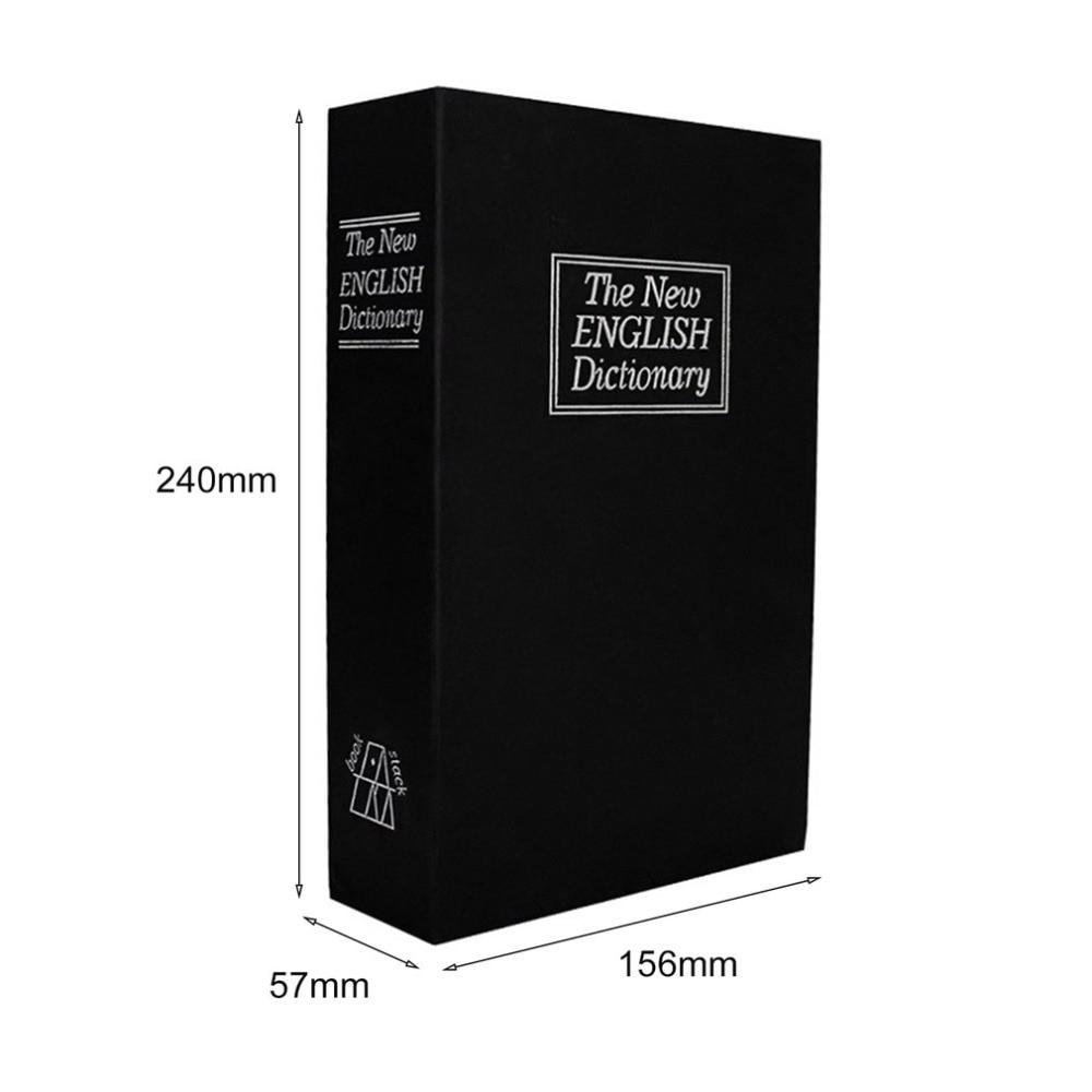 Купить с кэшбэком MIni Home Security Dictionary Key Book Safe/Lock Box/Storage/Piggy Bank Creative Money Box Home Accessories