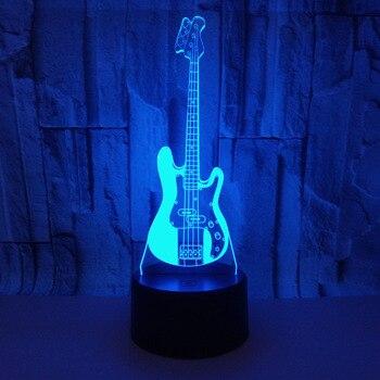 Đàn Guitar điện 3D LED Nightlight Acrylic Thị Giác Stereo Đèn Cảm Ứng 3D Đèn Bàn Phòng Trẻ Em Trang Trí 3D Đèn Ngủ