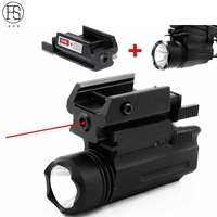 Red Laser Sight And Glock Flashlight Combo Tactical Rifle Lights For Pistol Guns Glock 17 19