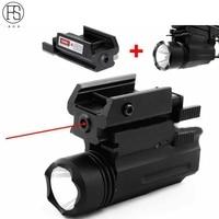 Red Laser Sight và Glock Flashlight Combo Tactical Rifle Lights đối với Guns Pistol Glock 17,19, 22 Loạt Săn Laser Sight