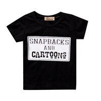 Fashion Newborn T-shirts Infant Kid Boy Tops O-Neck Infant Boys Cotton T-shirt Short Sleeve Letter Crew Neck T-Shirts Girls Tops
